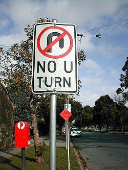School Traffic - No U Turns