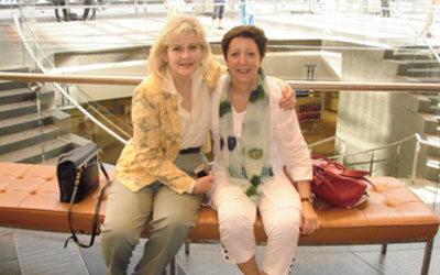 Cristina Lynn with Dr Barbara Chance Source: parkingconsultants.com