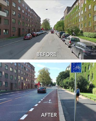 Oslo Before and After